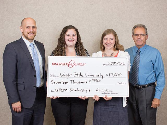 Riverside Research Presents STEM Scholarships to Wright State University