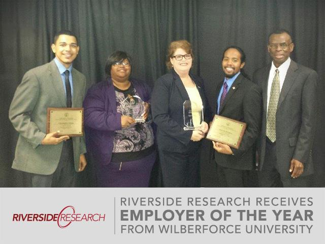 Riverside Research Receives 2014 'Employer of the Year' Award from Wilberforce University