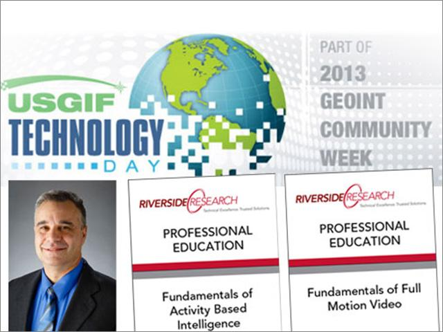 Riverside Research to Issue Continuing Education Units at GEOINT Community Week